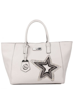 Nicole Lee Brona Glitz Star Patch Shopper Bag P12408