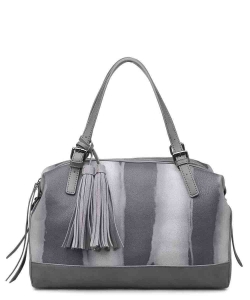 Urban Expressions Wilder Satchel Bag 12590 GRAY
