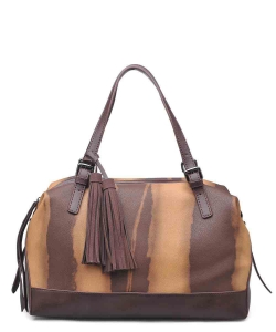 Urban Expressions Wilder Satchel Bag 12590 TAN