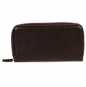 Designer Inspired Faux Leather Wallet Double Zipper Entry.