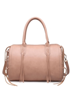 Urban Expressions Baxter Satchel  Bag 13138 NATURAL