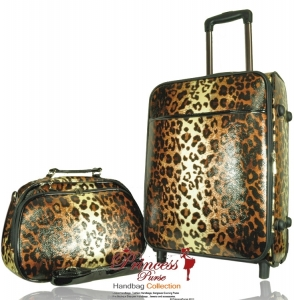 Designer Inspired Professional Leopard 3 Piece Luggage Combo