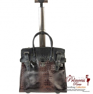 Ultra Classy Designer Inspired Fuax Croc Skin Travel Luggage w/ Rolling Wheels