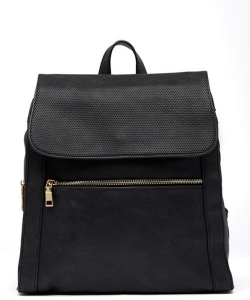 Urban Expressions Mick Vegan Leather Backpack 14544 BLACK