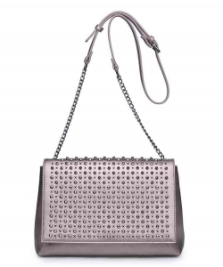 Urban Expressions Gabrielle Crossbody Bag 14903 PEWTER