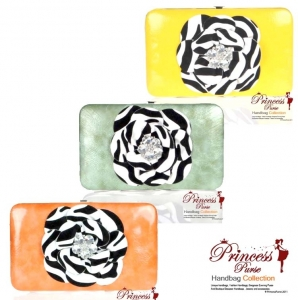 6 Piece Combo!! Summer Colors! This designer inspired leatherette zebra print flower wallet with rhinestone accent