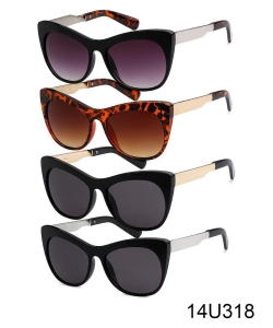 1 Dozen Pack Designer Inspired  Fashion Sunglasses 14U318