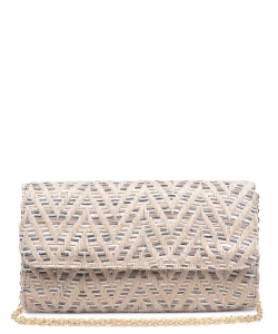 Urban Expressions Bahamas Multi Clutch Bag 15850B NATURAL