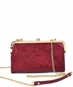 Urban Expression Alicia Clutch 16346C BURGANDY