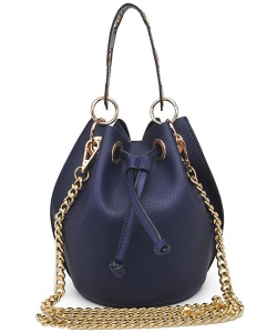 Urban Expressions SERAPHINA Pebbled Vegan Leather 16468 NAVY