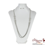 "14.5"" Ultra Stylish Necklace w/ Chic crystals adornments"