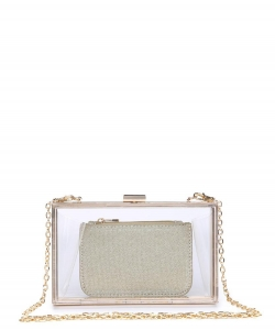 Urban Expressions Lady Evening Bag 17369 CLEAR