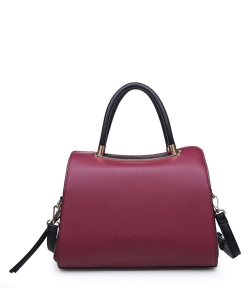 Urban Expressions Willa Satchel Bag 17810 CHERRY