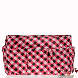 Fashionable Checkers Print Purse Organizer