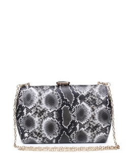 Urban expression Snake Skin Clutch 18836 - BLACK WHITE