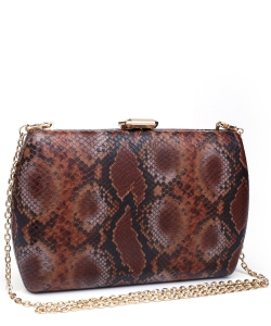 Urban expression Snake Skin Clutch 18836 CHOCO MULTI