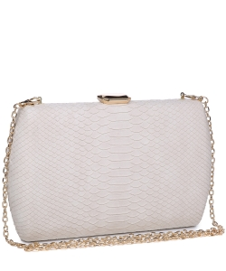 Urban expression Snake Skin Clutch 18836 - CREAM