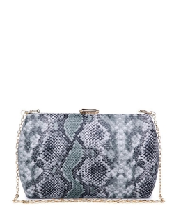 Urban expression Snake Skin Clutch 18836 - GREEN MT