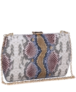 Urban expression Snake Skin Clutch 18836 NATURAL MULTI
