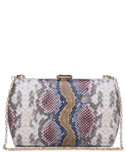 Urban expression Snake Skin Clutch - 18836 Natural MULTI