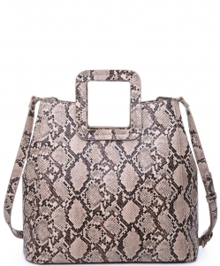 Urban Expressions Mila Snakeskin Satchel Bag  19180 NATURAL