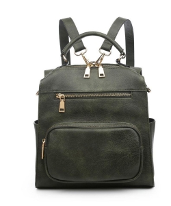 Urban Expressions Miles Vegan Leather Backpack 19357 OLIVE