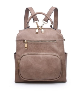 Urban Expressions Miles Vegan Leather Backpack 19357 NUTMEG