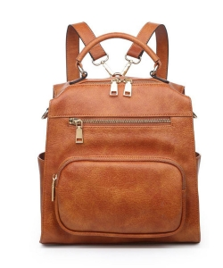Urban Expressions Miles Vegan Leather Backpack 19357 TAN