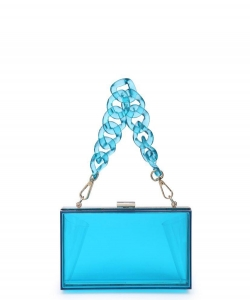 Urban Expressions Lizzo Clutch Bag 19684 BLUE