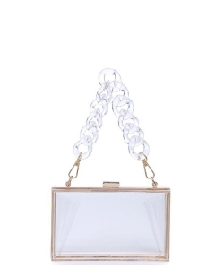 Urban Expressions Lizzo Clutch Bag 19684 CLEAR