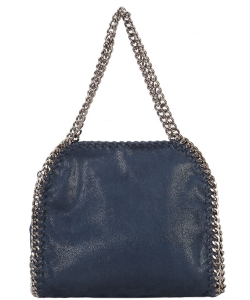 Fashion Chained Designer Satchel with Chain GF6630 NAVY