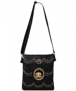 Licensed Betty Boop Messenger Bag Handbag Purse Studded KF4586