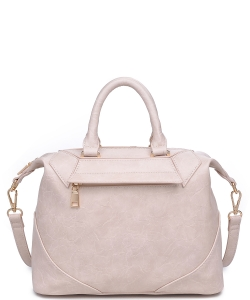 Urban Expression Hayden Pebbled Vegan Leather 20475  CREAM