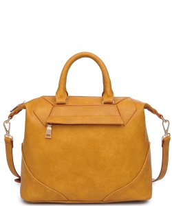 Urban Expression Hayden Pebbled Vegan Leather 20475  MUSTARD