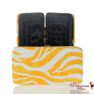 Designer Inspired Yellow Zebra Print Wallet