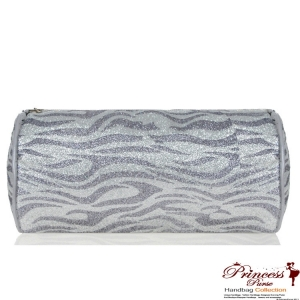 Cylinder Animal Print Cosmetic Bag