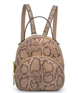 Urban Expressions Nichole Snakeskin Mini Backpack 21363 NATURAL