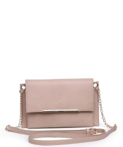 Urban Expressions Asher Vegan Crossbody Bag 21632  NUDE