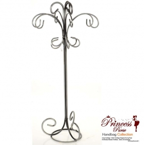 Silver Tone Jewelry Display Stand