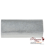 Stylish  Sparkly Clutch w/  Rhinestone Accent And Detachable Shoulder Strap