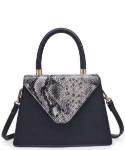 Urban Expressions Willow Snakeskin Mini Crossbody bag 21926 BLACK