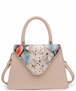 Urban Expressions Willow Snakeskin Mini Crossbody bag 21926 BEIGE MULTI