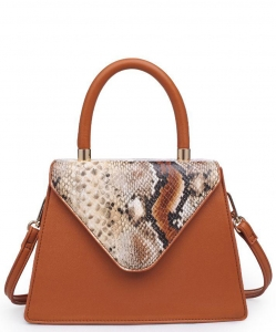 Urban Expressions Willow Snakeskin Mini Crossbody bag 21926 TAN