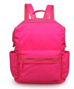 Urban Expressions Zenon Vegan Leather Backpack  21997 Neon Pink