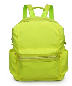 Urban Expressions Zenon Vegan Leather Backpack  21997 Neon Yellow