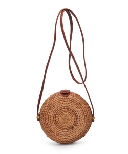 Urban Expressions Bacara Woven Crossbody Bag 22239  NATURAL