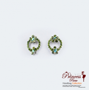 Trendy And Sparkley  Earrings w/ Rhinestone and Flower Accent