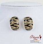 Stylish Fashionable Animal Design Earrings w/ Crystal Rhinestone Accent