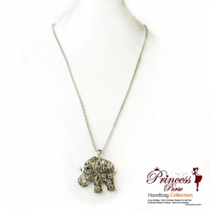 New Chic Elephant Emblem necklace w/ Rhinestone Accent