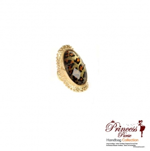 Leopard Accent Stretch Ring